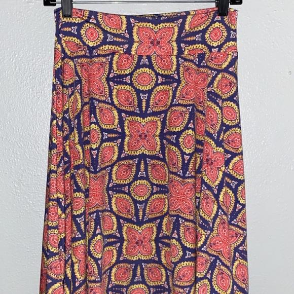 Kids 14 LulaRoe Patterned Skirt